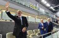 İlham Əliyev millimizin qələbəsini izlədi
