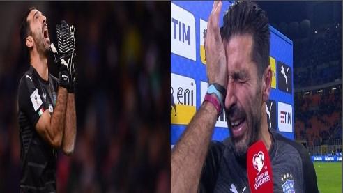 İtaliya 60 il sonra şokda: Buffon göz yaşlarıyla yığmadan getdi - Foto-Video