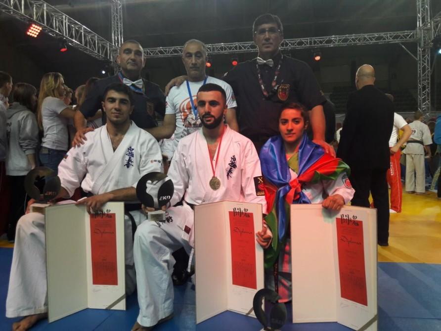 Karateçilərimizdən 1 qızıl, 2 bürünc medal