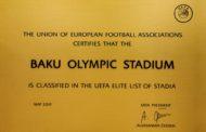 UEFA-dan BOS-a fəxri mükafat
