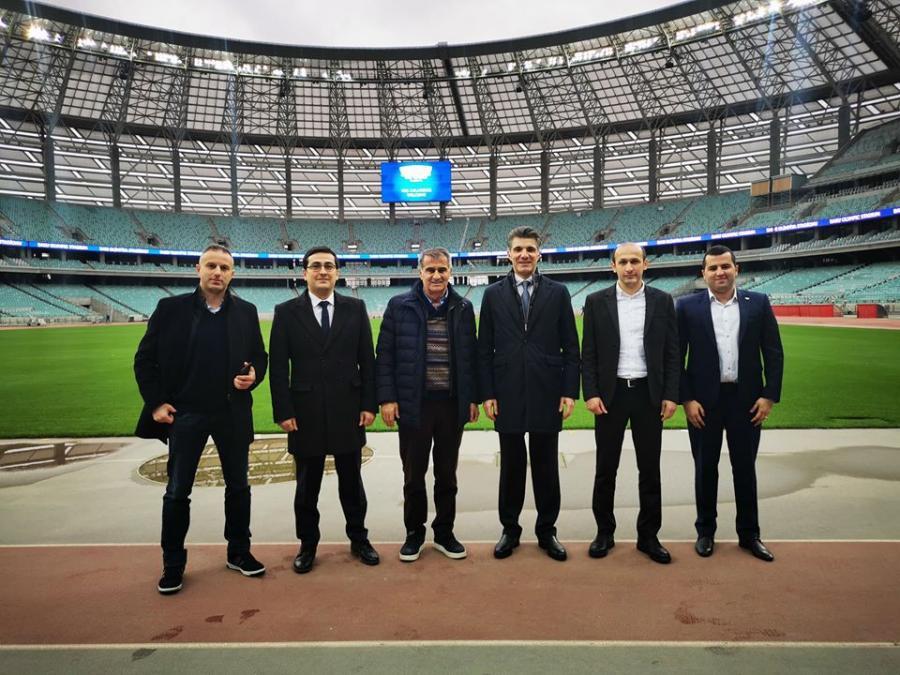 Şenol Güneş Bakı Olimpiya Stadionunda - Şəkillər