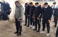 """""""Qarabağ"""" Ağdamda namaz qıldı, qəhrəmanın məzarını ziyarət etdi - Şəkillər"""