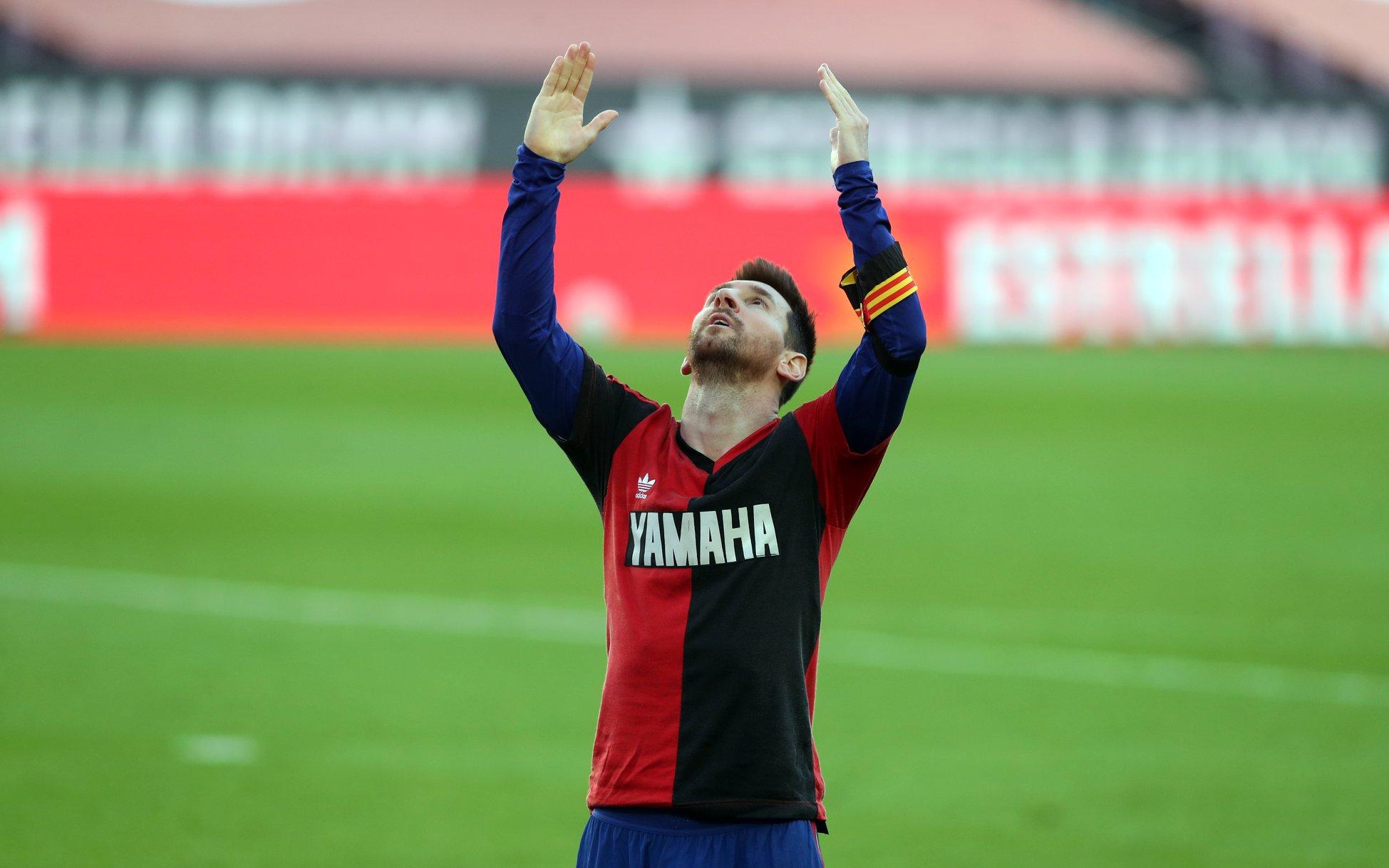 Messi qoldan sonra Maradonanı yad etdi