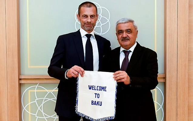 AFFA rəhbəri UEFA prezidentiylə görüşdü